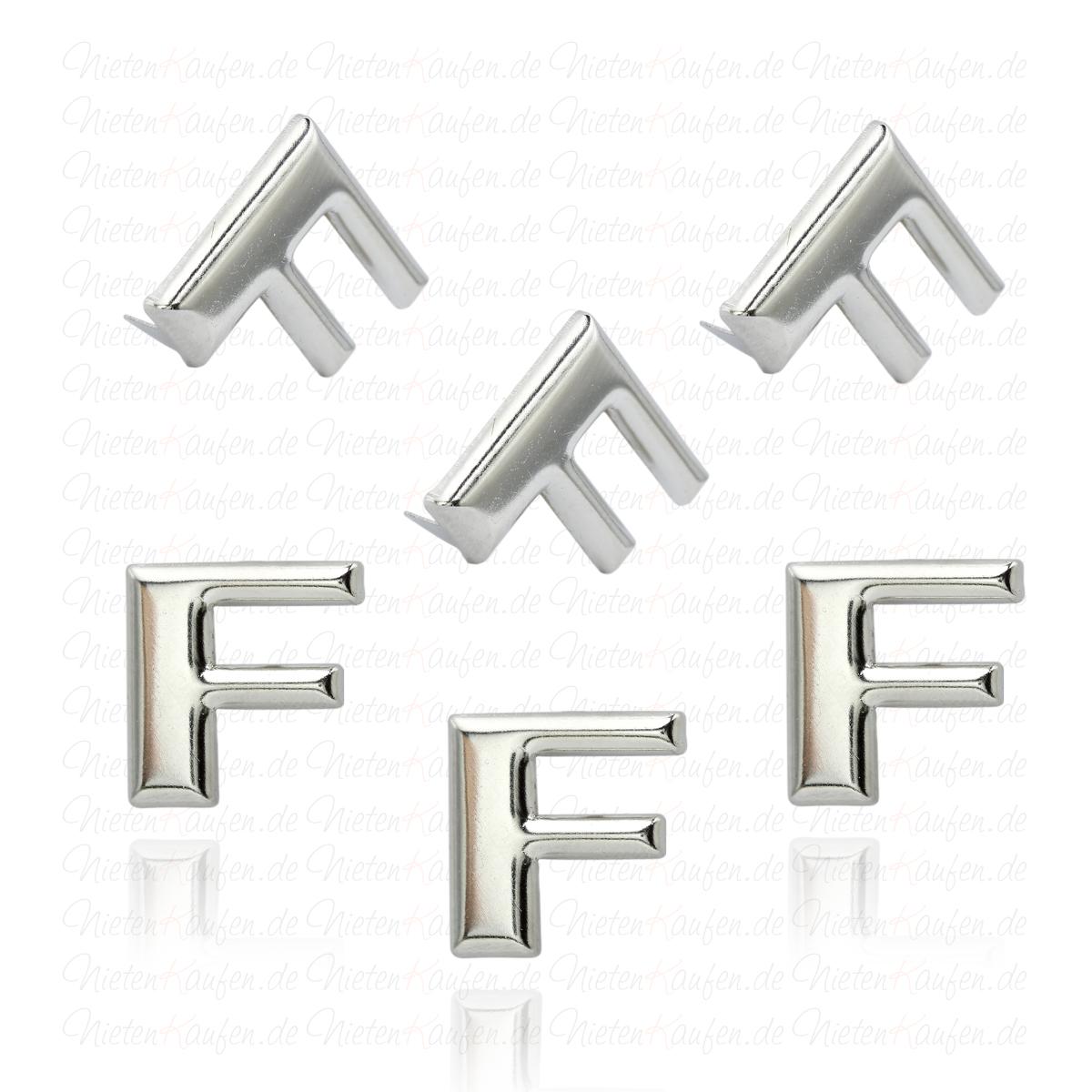 f alphabet buchstaben niete aus metall. Black Bedroom Furniture Sets. Home Design Ideas