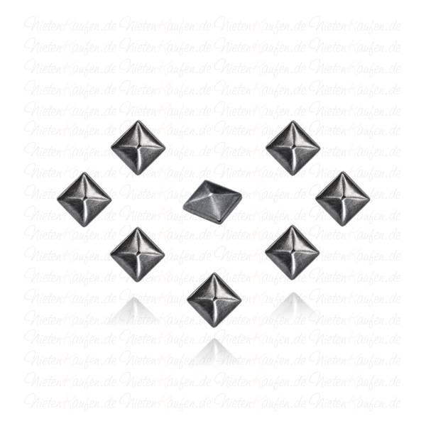 Hotfix Pyramidennieten zum Aufbügeln in Gunmetal 6mm