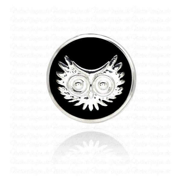 Eulen Chunk in Schwarz Silber
