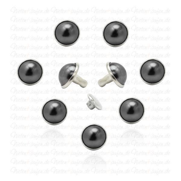 Schwarze Perlen Hohlnieten