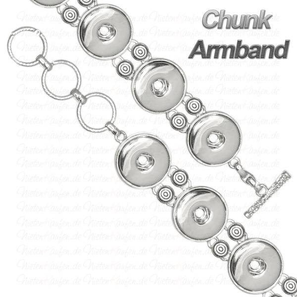 Chunk Armband aus Metall für 18 mm Chunks Buttons