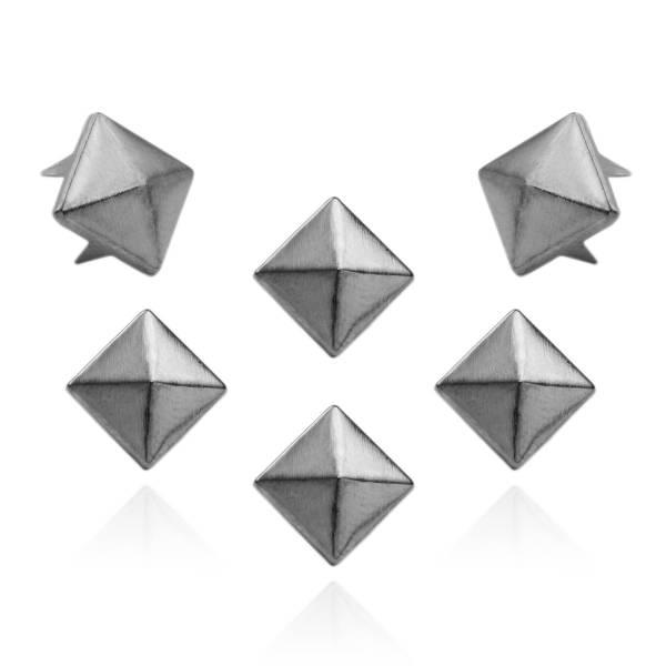 Pyramidennieten Gunmetal 9mm