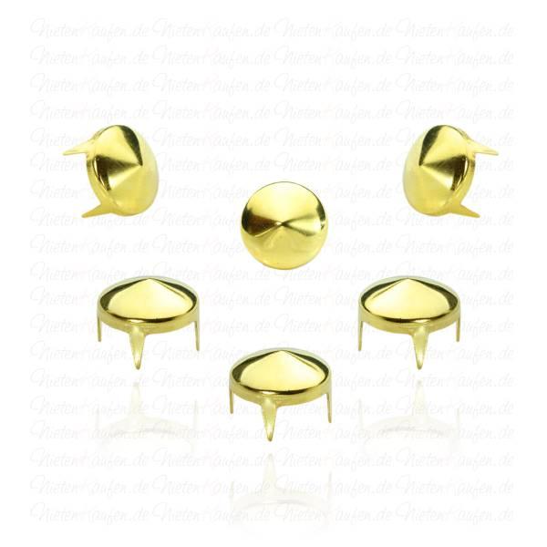 Spitznieten Gold 10 mm