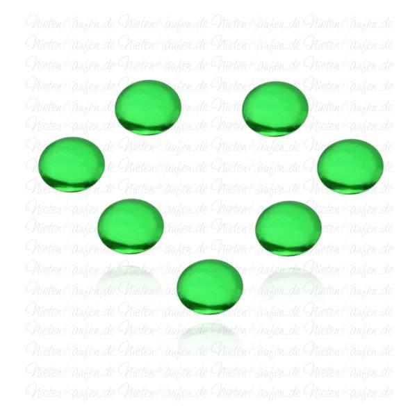 5mm Grüne Rundnieten - Klebenieten - Bastelnieten - Nieten zum Aufkleben - Bügelnieten - Nieten zum Aufbügeln