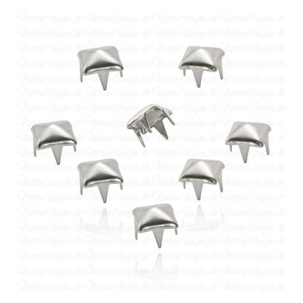 Silberne Pyramidennieten 6 mm
