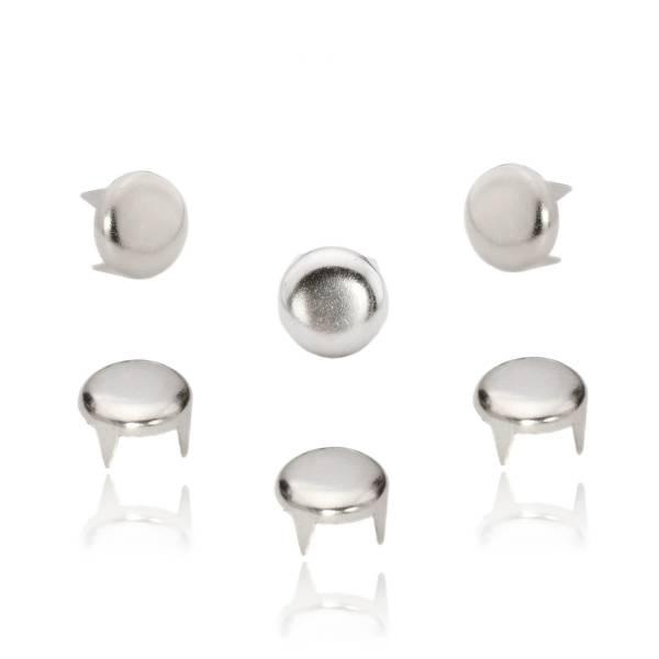Rundnieten Silber 10 mm