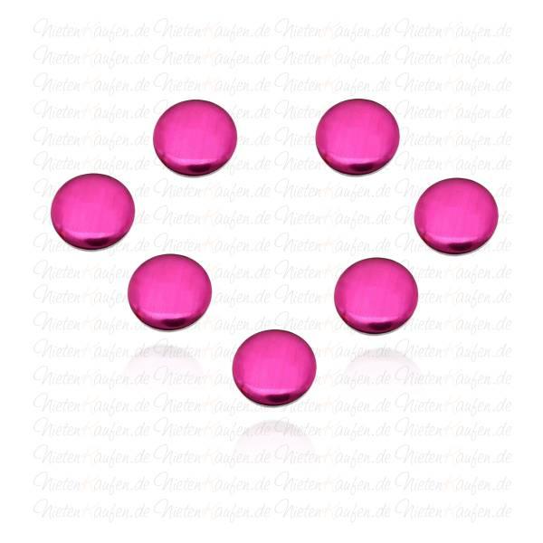 Runde Hotfix Nieten in  Pink