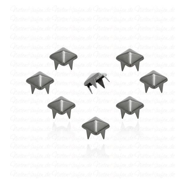 7 mm Pyramidennieten Gunmetal