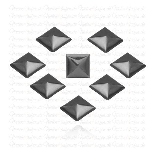 Schwarze Hotfix Pyramidennieten -  Klebenieten - Bastelnieten - Nieten zum Aufkleben