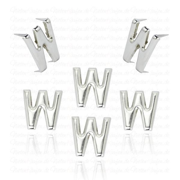 W - Metall Buchstaben Niete - Alphabet Nieten