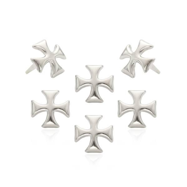 Kreuz Nieten Silber 12mm