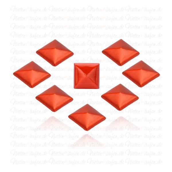 Rote Pyramiedennieten -  Klebenieten - Bastelnieten - Nieten zum Aufkleben