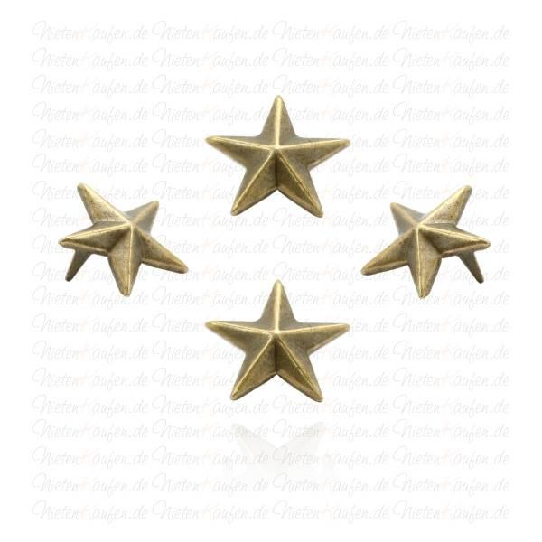 Stern Nieten Altmessing