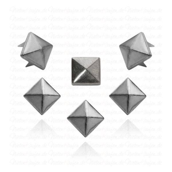 8 mm Pyramidennieten Gunmetal