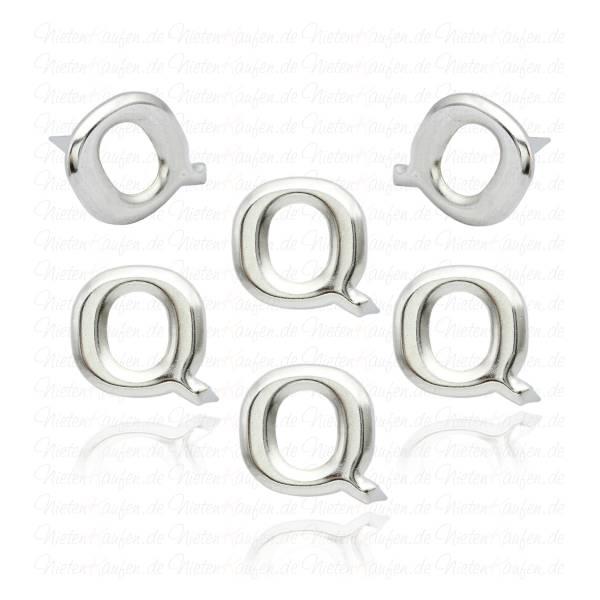 Q - Metall Buchstaben Niete - Alphabet Nieten