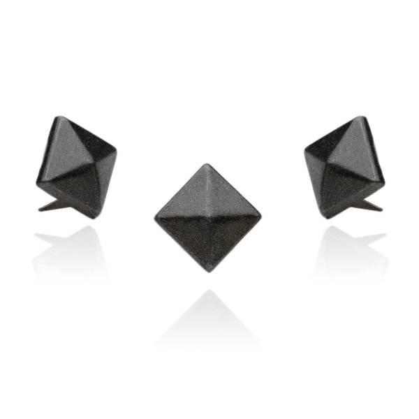 Pyramidennieten Schwarz 12 mm