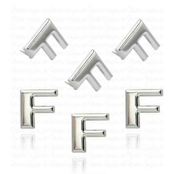 F - Metall Buchstaben Niete - Alphabet Nieten