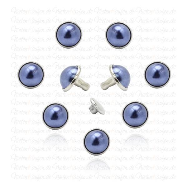 Blaue Perlen Hohlnieten