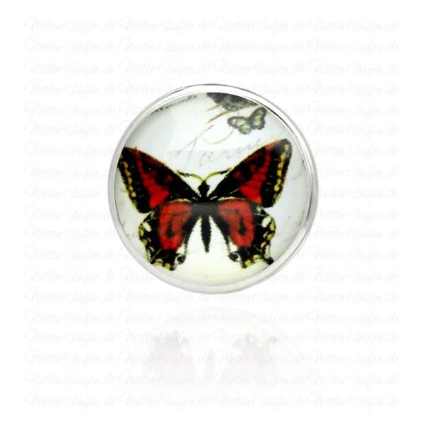 Modern Art Schmetterling Chunk Button - Chunk Druckknopf 18 mm