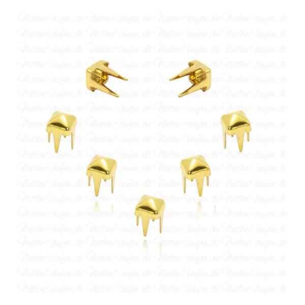 Goldene Pyramidennieten 3 mm