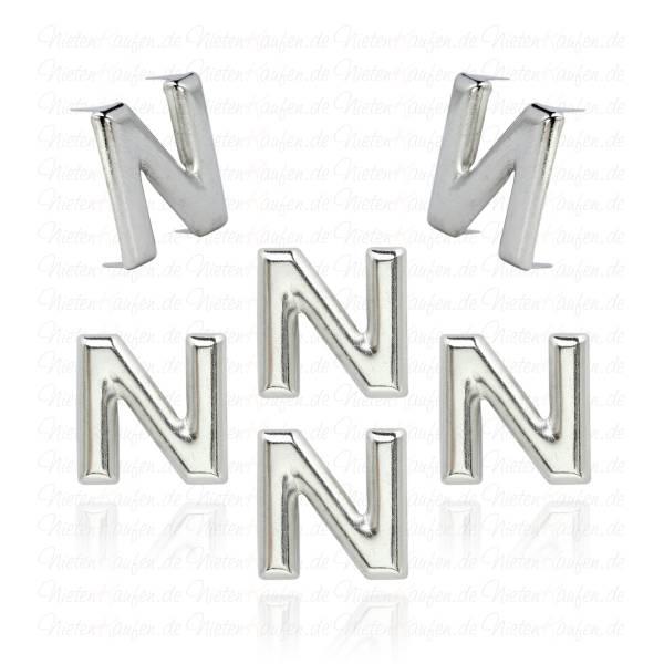 N - Metall Buchstaben Niete - Alphabet Nieten