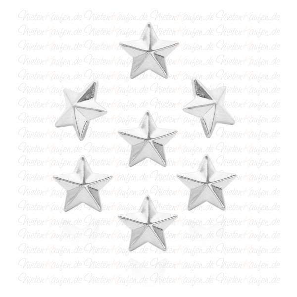 Silberne Sternnieten-  Klebenieten - Bastelnieten - Nieten zum Aufkleben