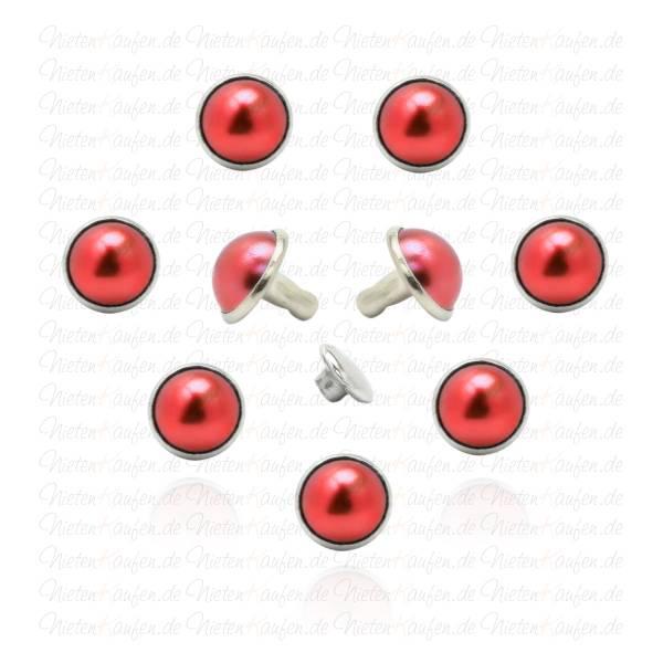 Rote Perlen Hohlnieten