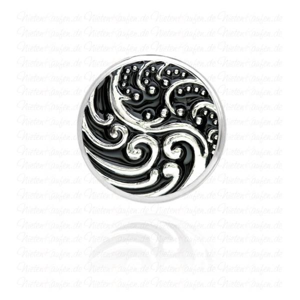 18 mm Chunk Button - Chunk Druckknopf im Antikstyle mit Ornamenten