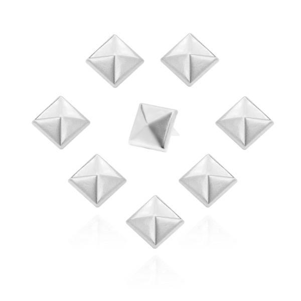 Pyramidennieten 10 mm Silber