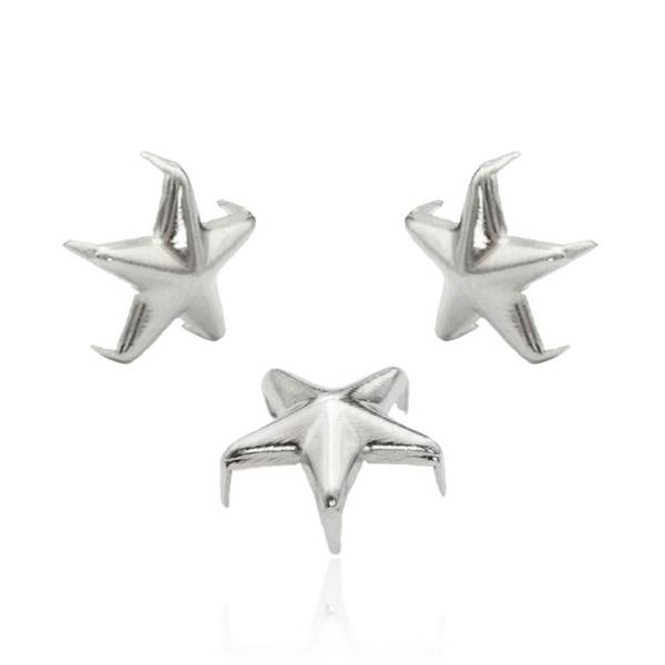 Stern Nieten Silber 10 mm