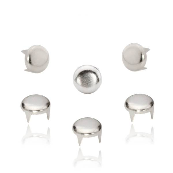 Rundnieten Silber 8 mm