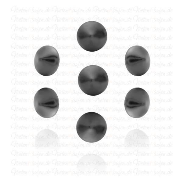 8mm Schwarze Kegelnieten - Spitznieten -  Klebenieten - Bastelnieten - Nieten zum Aufkleben - Bügelnieten - Nieten zum Aufbügeln