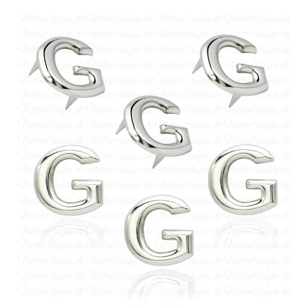 G - Metall Buchstaben Niete - Alphabet Nieten