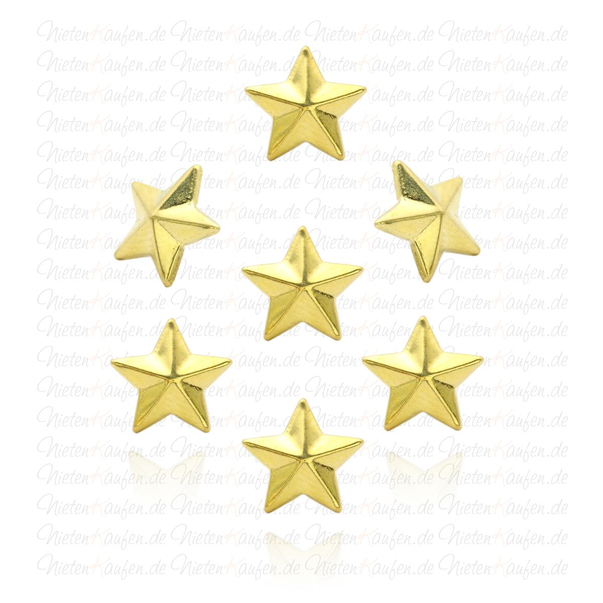 goldene hotfix sternnieten zum aufb geln oder aufkleben 10mm hotfix stern nieten zum aufb geln. Black Bedroom Furniture Sets. Home Design Ideas