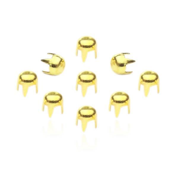 Rundnieten Gold 3 mm