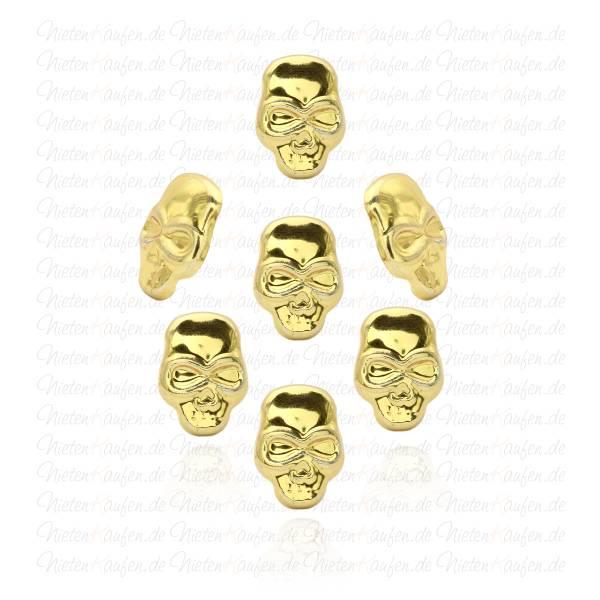 Goldene Skull - Totenkopf Nieten