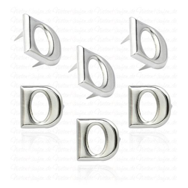 D - Metall Buchstaben Niete - Alphabet Nieten