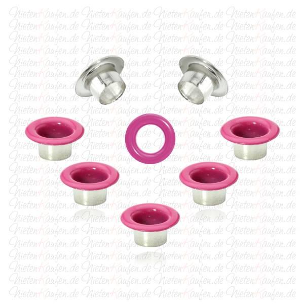 Pinkfarbende Eyelets