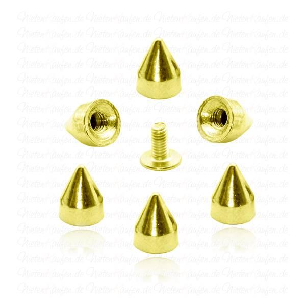 Goldene Killernieten 9x7 mm