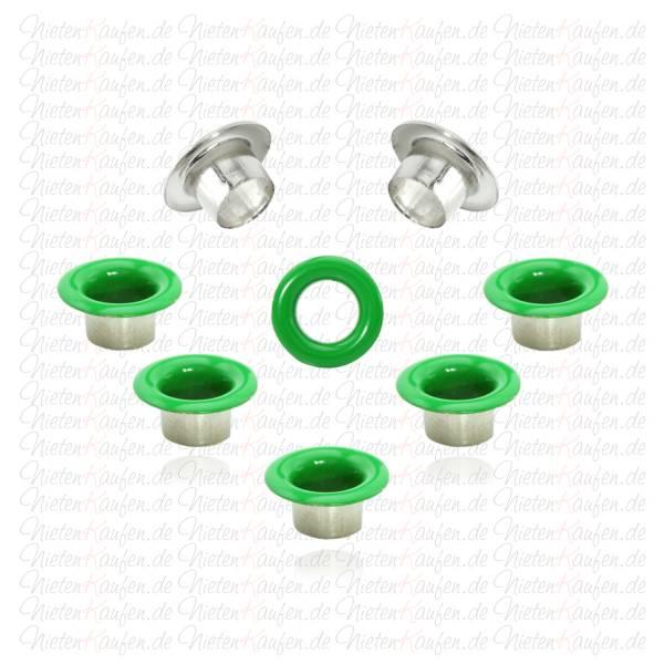 Grüne Eyelets