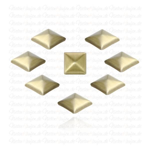 Altgoldene Pyramiedennieten -  Klebenieten - Bastelnieten - Nieten zum Aufkleben