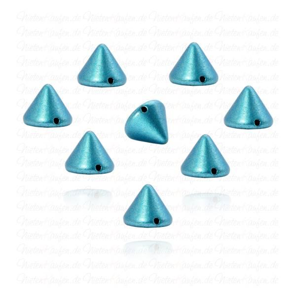 Killernieten in Blau Metallic zum Aufnähen oder Aufkleben 10 mm