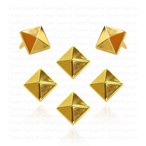 Pyramidennieten Gold 12 mm