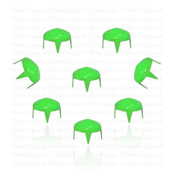 7 mm Grüne Spitznieten - Hohlnieten
