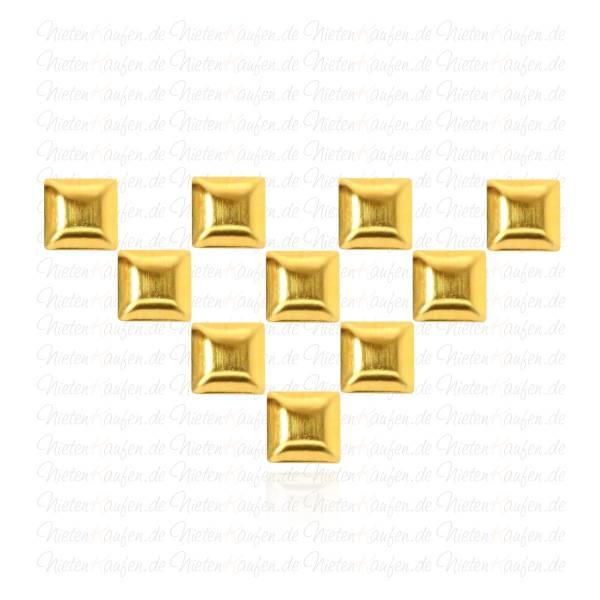 Goldene Pyramiedennieten -  Klebenieten - Bastelnieten - Nieten zum Aufkleben