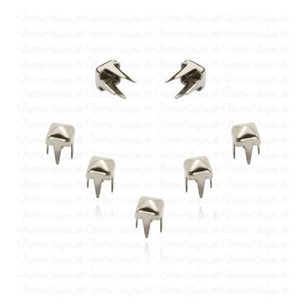 Silberne Pyramidennieten 3 mm