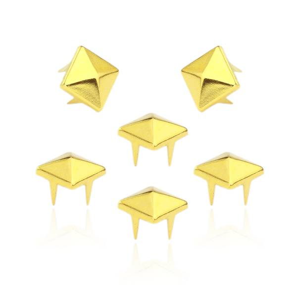 Pyramidennieten Gold 8mm
