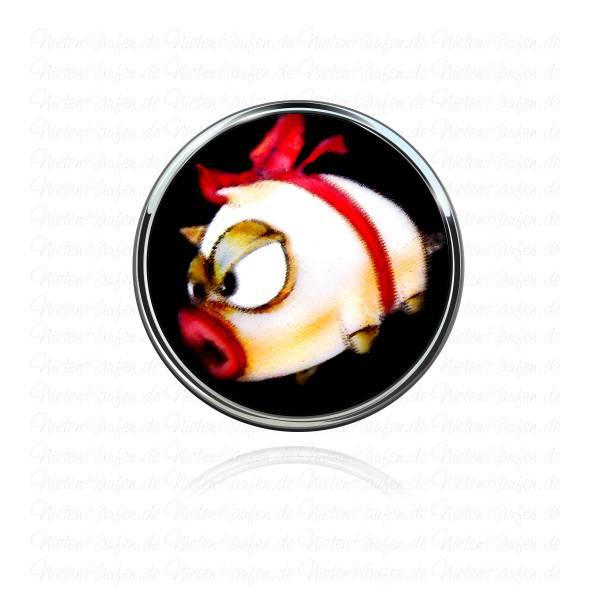 Kampfschwein Chunk Button - Pig Chunk Druckknopf