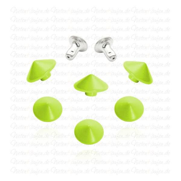 Kegelnieten - Hohlnieten Grün