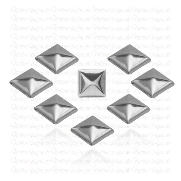 Gunmetal Pyramiedennieten -  Klebenieten - Bastelnieten - Nieten zum Aufkleben